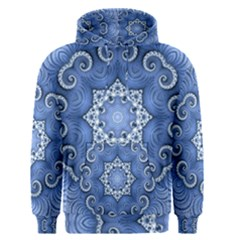 Awesome Kaleido 07 Blue Men s Pullover Hoodies by MoreColorsinLife