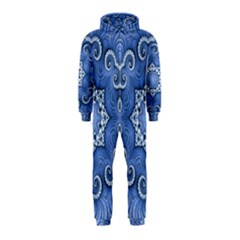 Awesome Kaleido 07 Blue Hooded Jumpsuit (kids) by MoreColorsinLife