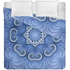 Awesome Kaleido 07 Blue Duvet Cover (king Size) by MoreColorsinLife