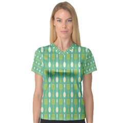 Spatula Spoon Pattern Women s V-Neck Sport Mesh Tee