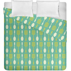 Spatula Spoon Pattern Duvet Cover (king Size) by creativemom
