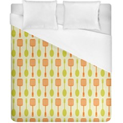 Spatula Spoon Pattern Duvet Cover Single Side (Double Size) by creativemom