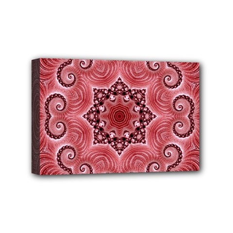 Awesome Kaleido 07 Red Mini Canvas 6  X 4  by MoreColorsinLife