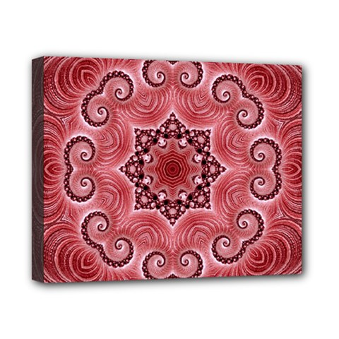 Awesome Kaleido 07 Red Canvas 10  X 8  by MoreColorsinLife