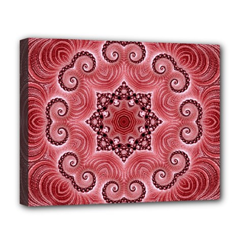 Awesome Kaleido 07 Red Deluxe Canvas 20  X 16   by MoreColorsinLife
