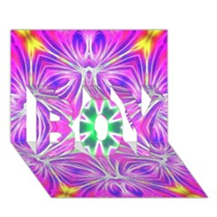 Kaleido Art, Pink Fractal Boy 3d Greeting Card (7x5) by MoreColorsinLife