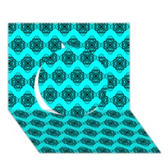 Abstract Knot Geometric Tile Pattern Circle 3d Greeting Card (7x5)  by creativemom