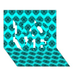 Abstract Knot Geometric Tile Pattern LOVE 3D Greeting Card (7x5)  by creativemom