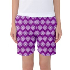 Abstract Knot Geometric Tile Pattern Women s Basketball Shorts by creativemom