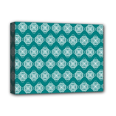 Abstract Knot Geometric Tile Pattern Deluxe Canvas 16  X 12   by creativemom