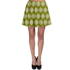Abstract Knot Geometric Tile Pattern Skater Skirts by creativemom