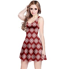 Abstract Knot Geometric Tile Pattern Reversible Sleeveless Dresses