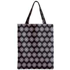 Abstract Knot Geometric Tile Pattern Zipper Classic Tote Bags by creativemom