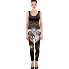 Steampunk, Awesome Heart With Clocks And Gears Onepiece Catsuits by FantasyWorld7