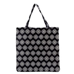 Abstract Knot Geometric Tile Pattern Grocery Tote Bags by creativemom