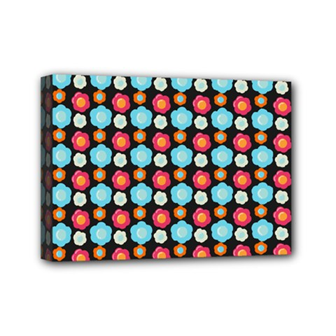 Colorful Floral Pattern Mini Canvas 7  X 5  by creativemom