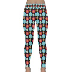 Colorful Floral Pattern Yoga Leggings by creativemom