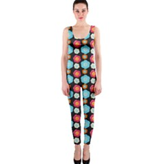 Colorful Floral Pattern Onepiece Catsuits by creativemom
