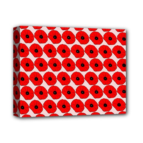 Red Peony Flower Pattern Deluxe Canvas 14  X 11  by creativemom