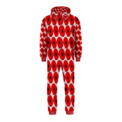 Red Peony Flower Pattern Hooded Jumpsuit (kids) by creativemom