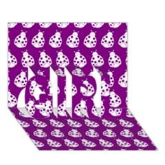 Ladybug Vector Geometric Tile Pattern Girl 3d Greeting Card (7x5)  by creativemom