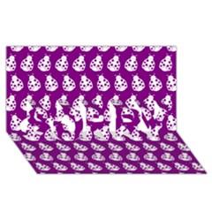 Ladybug Vector Geometric Tile Pattern Sorry 3d Greeting Card (8x4)
