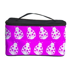Ladybug Vector Geometric Tile Pattern Cosmetic Storage Cases by creativemom