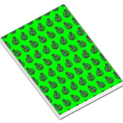 Ladybug Vector Geometric Tile Pattern Large Memo Pads by creativemom
