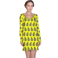Ladybug Vector Geometric Tile Pattern Long Sleeve Nightdresses by creativemom