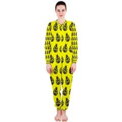 Ladybug Vector Geometric Tile Pattern Onepiece Jumpsuit (ladies)  by creativemom