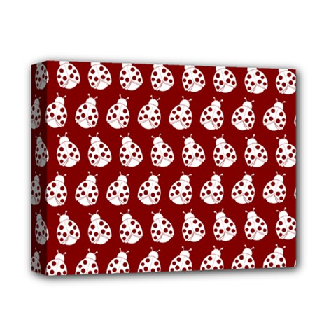 Ladybug Vector Geometric Tile Pattern Deluxe Canvas 14  X 11  by creativemom