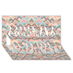 Trendy Chic Modern Chevron Pattern Congrats Graduate 3d Greeting Card (8x4)  by creativemom
