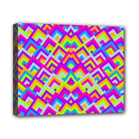 Colorful Trendy Chic Modern Chevron Pattern Canvas 10  X 8  by creativemom