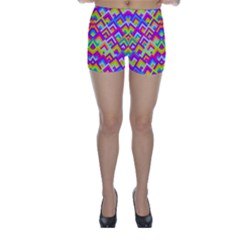 Colorful Trendy Chic Modern Chevron Pattern Skinny Shorts by creativemom