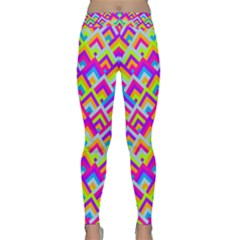 Colorful Trendy Chic Modern Chevron Pattern Yoga Leggings by creativemom