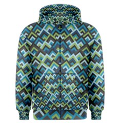 Trendy Chic Modern Chevron Pattern Men s Zipper Hoodies by creativemom