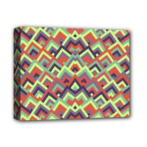 Trendy Chic Modern Chevron Pattern Deluxe Canvas 14  X 11  by creativemom