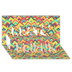 Trendy Chic Modern Chevron Pattern Best Friends 3d Greeting Card (8x4)  by creativemom