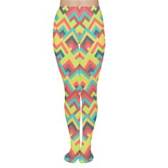 Trendy Chic Modern Chevron Pattern Women s Tights by creativemom