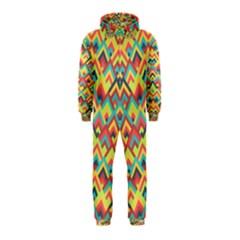 Trendy Chic Modern Chevron Pattern Hooded Jumpsuit (kids) by creativemom