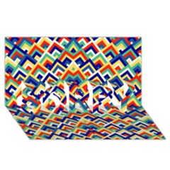 Trendy Chic Modern Chevron Pattern Sorry 3d Greeting Card (8x4)