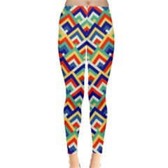 Trendy Chic Modern Chevron Pattern Women s Leggings by creativemom