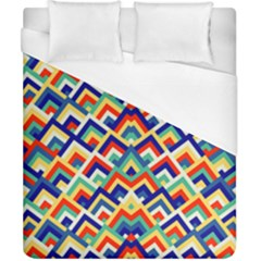 Trendy Chic Modern Chevron Pattern Duvet Cover Single Side (double Size) by creativemom