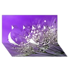 Dandelion 2015 0706 Twin Hearts 3d Greeting Card (8x4)  by JAMFoto