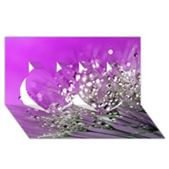 Dandelion 2015 0707 Twin Hearts 3d Greeting Card (8x4)  by JAMFoto