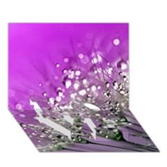 Dandelion 2015 0707 Love Bottom 3d Greeting Card (7x5)