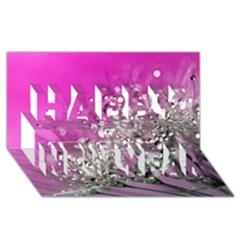 Dandelion 2015 0708 Happy New Year 3d Greeting Card (8x4)  by JAMFoto