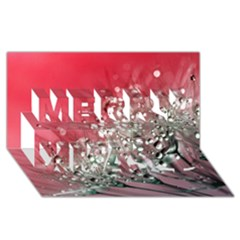 Dandelion 2015 0710 Merry Xmas 3d Greeting Card (8x4)  by JAMFoto
