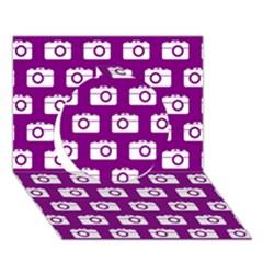 Modern Chic Vector Camera Illustration Pattern Circle 3d Greeting Card (7x5)  by creativemom