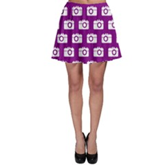 Modern Chic Vector Camera Illustration Pattern Skater Skirts by creativemom